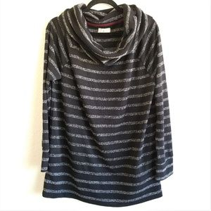 Lou and Grey Striped Cowl Pullover Sweater 167
